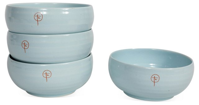 Blue Bowls, Set of 4