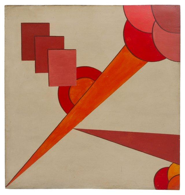 1900s Constructivist Painting