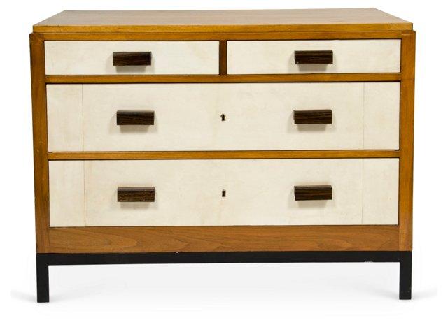 Travertine & Walnut Dresser