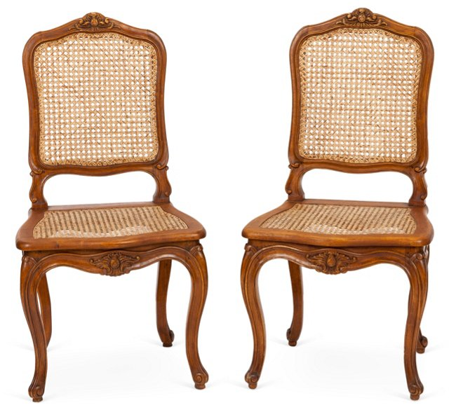 Louis XV-Style Chairs, Pair