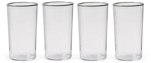 S/4 Column Glasses, Gray
