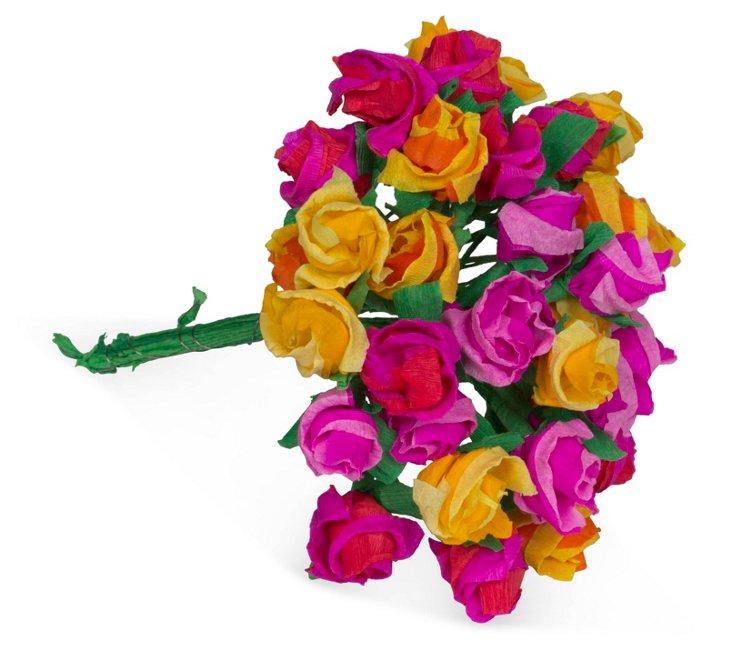 Mini Paper Rose Bouquet