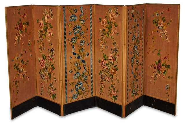 6-Panel French Embroidered Screen