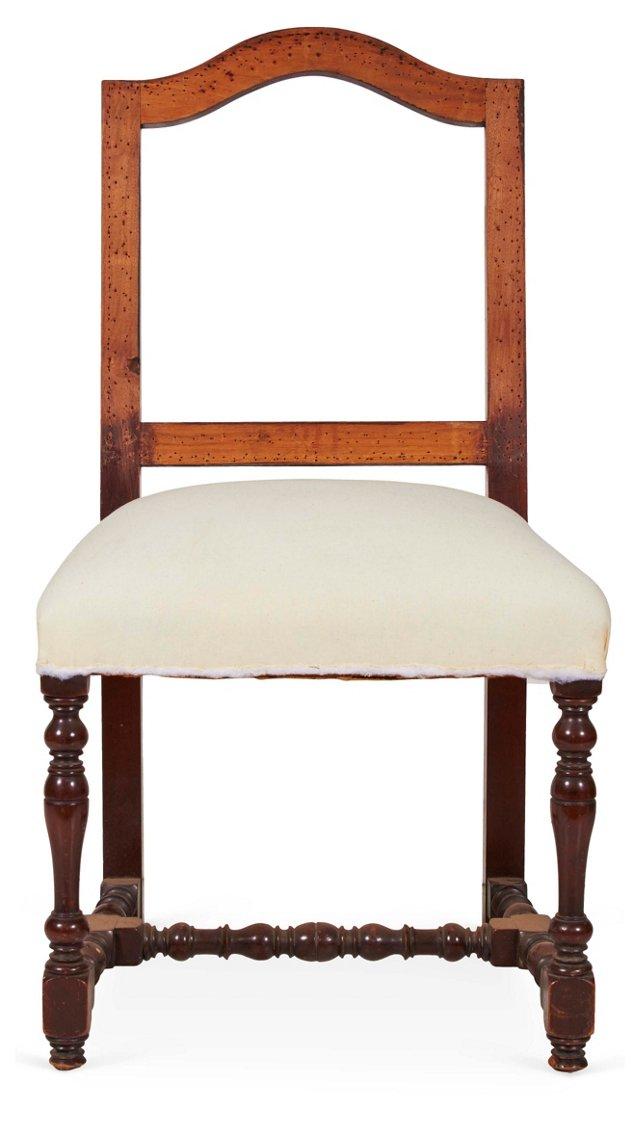 Muslin Side Chair  w/ Open Back