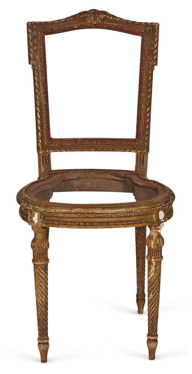 Antique Carved Wood Chair Frame