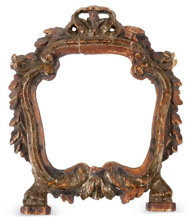 Rococo-Style Frame w/ Lion's Paws & Bow