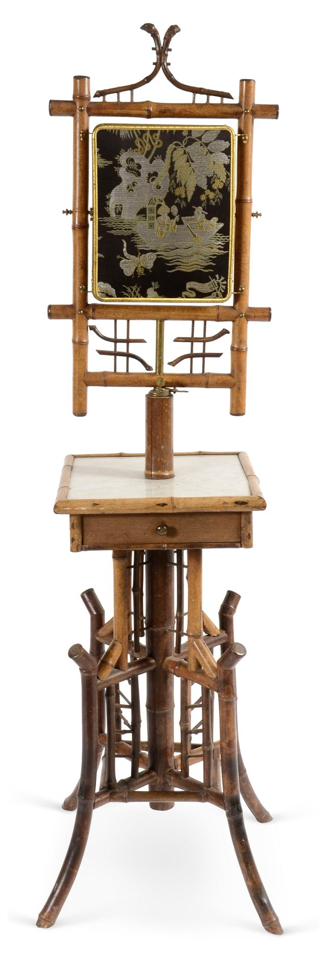 19th-C. Bamboo Shaving Stand