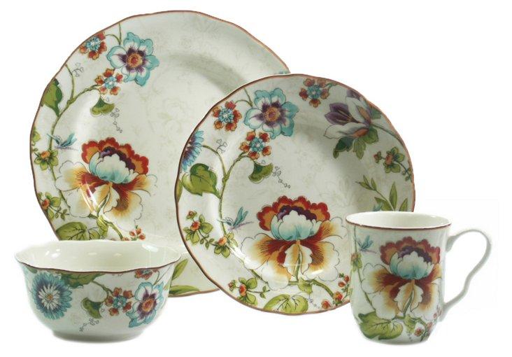 16-Pc Bella Vista Dinnerware Set, Cream
