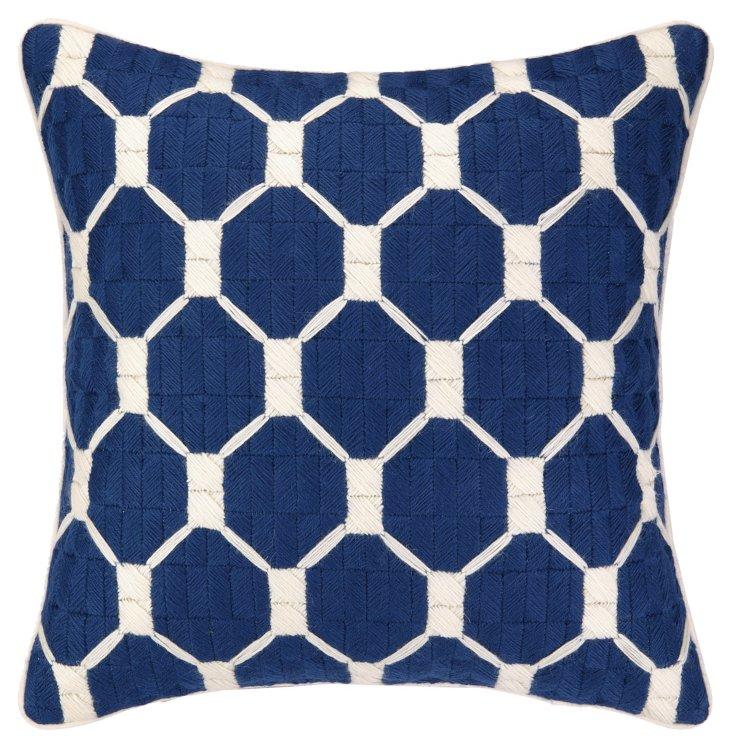 TT Montebello Bargello Pillow, Blue