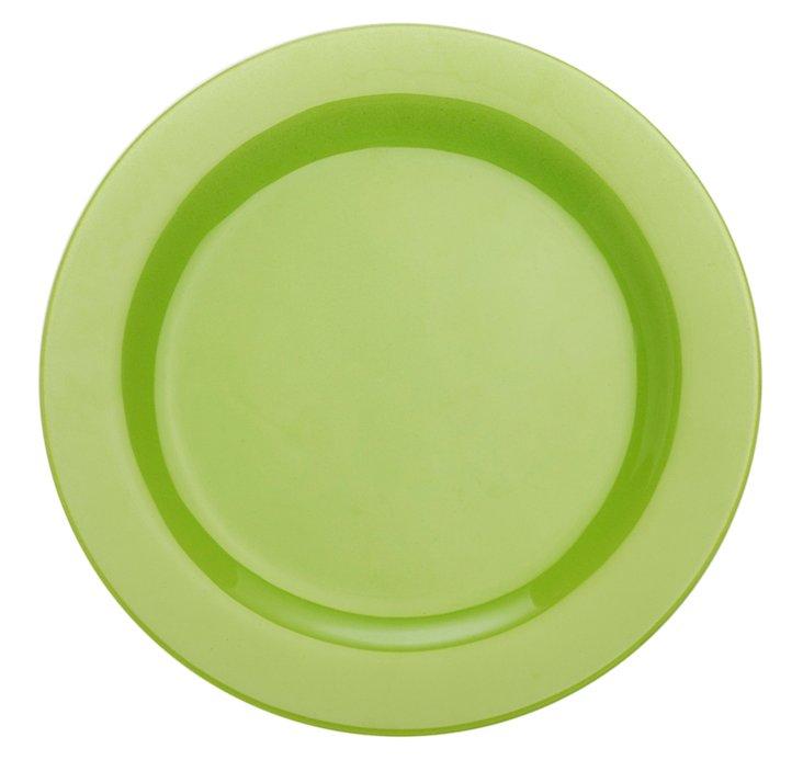 """S/4 Paint 9"""" Rim Plates, Lime"""