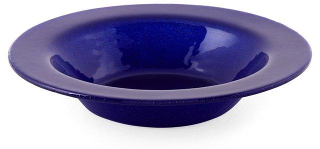 S/4 Rimmed Bowls, Cobalt