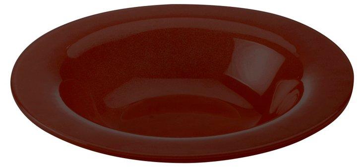 S/4 Rimmed Bowls, Maroon