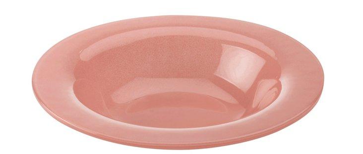 S/4 Rimmed Bowls, Pink