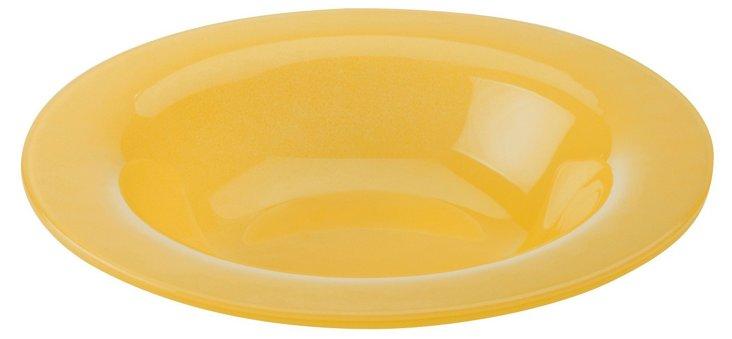 S/4 Rimmed Bowls, Amber