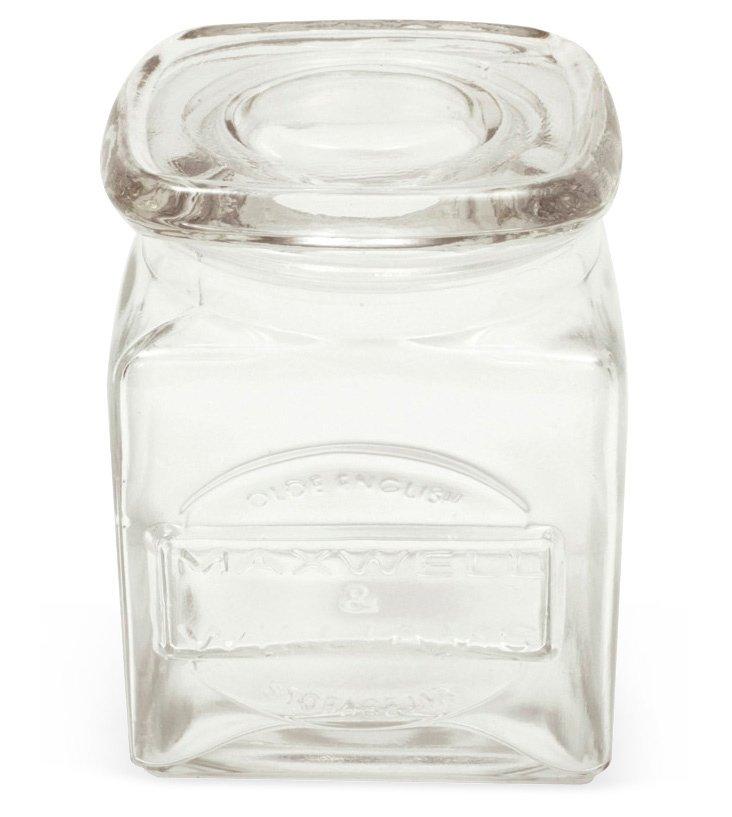 S/4 Olde English Storage Jars, 17 Oz