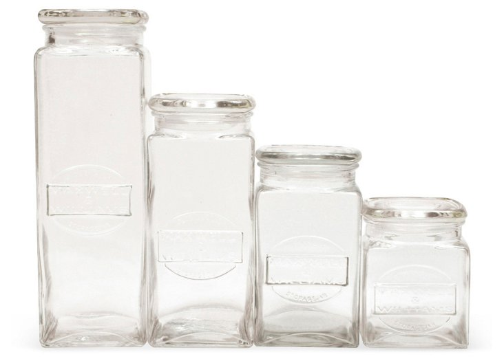 S/4 Olde English Storage Jars