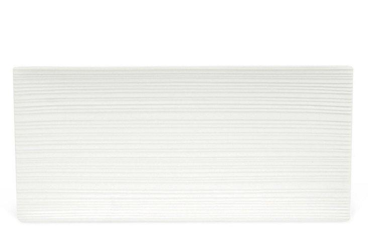 S/2 Cirque Rectangular Platters, White