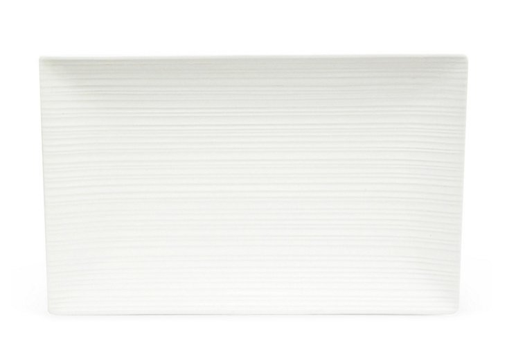 Large Cirque Rectangular Platter, White