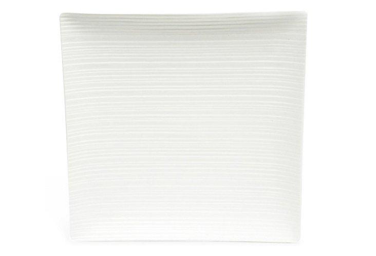 Cirque Square Platter, White