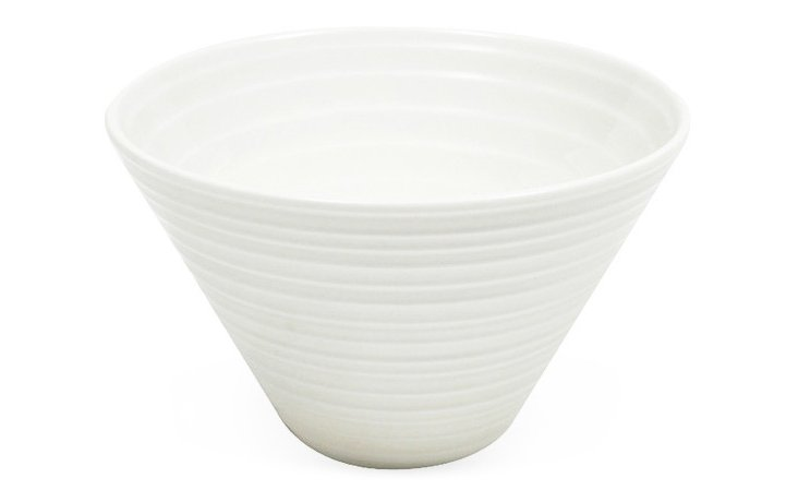 S/4 Cirque Conical Medium Bowls, White