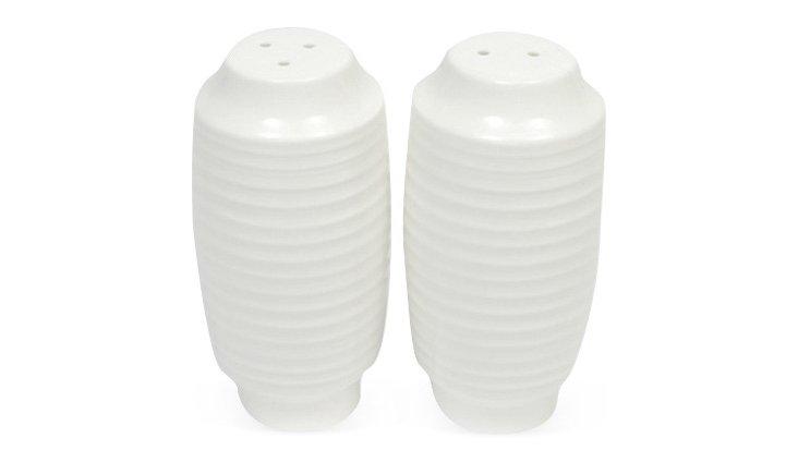 S/2 Cirque Salt & Pepper Shakers, White