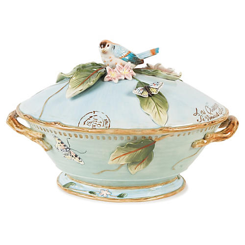 Toulouse Tureen & Ladle, Green
