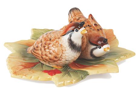 Bountiful Holiday Bird Salt & Pepper Set
