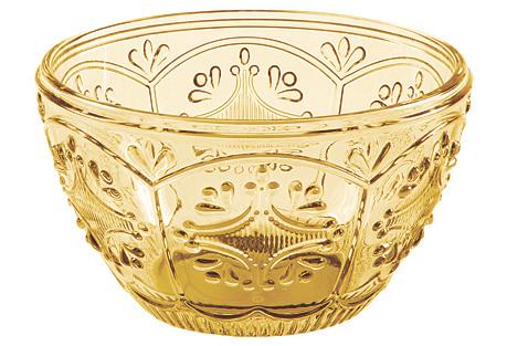 Trestle Small Bowl, Amber