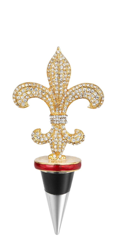 Fleur-de-Lis Bottle Stopper, Gold