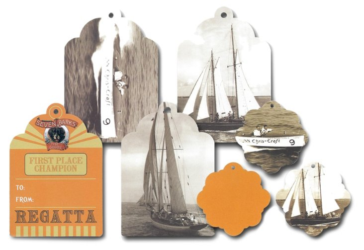 Gift Giving Tags Boating, Asst of 10