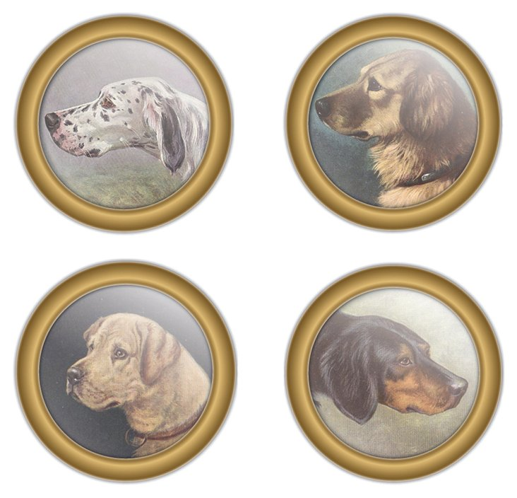 S/30 Paper Drink Coasters, Canine
