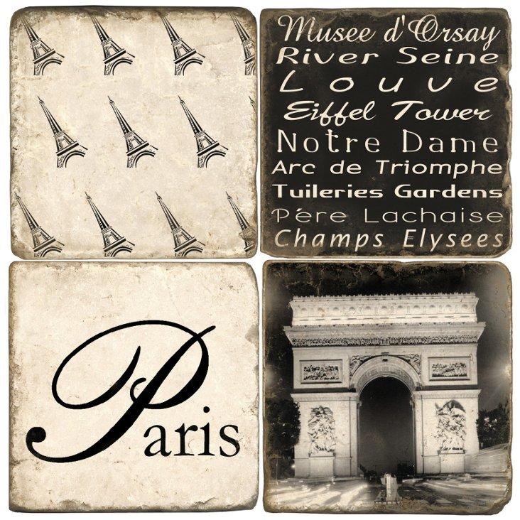 S/4 Marble Coasters, Paris