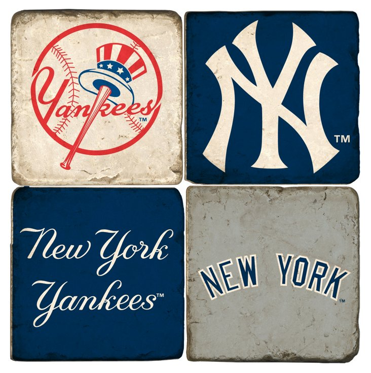 S/4 Marble Coaster, New York Yankees