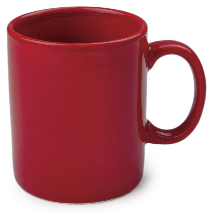 S/8 Red Mugs,11 Oz