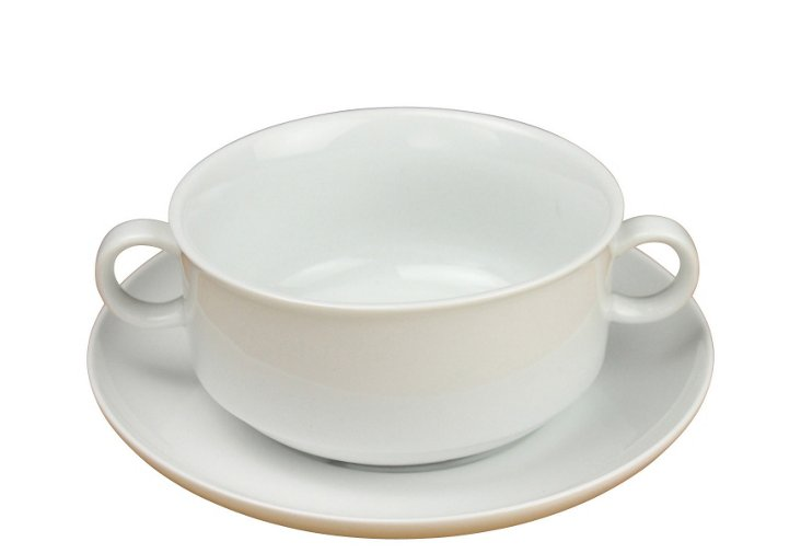 S/2 French Onion-Soup Bowls, White