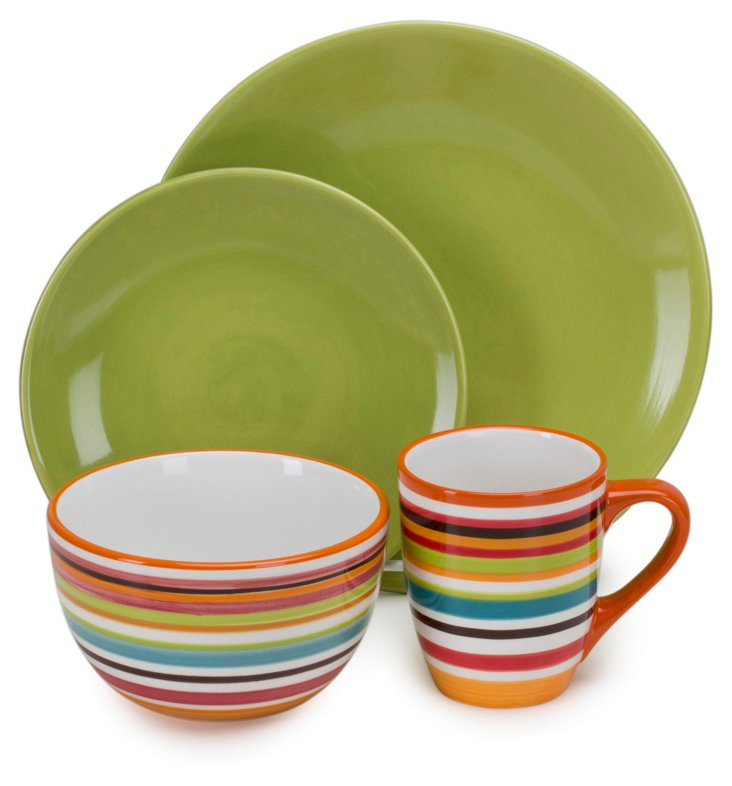 4-Pc Hand-Painted Rio Set, Citron