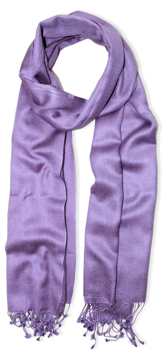 Cashmere/Silk Scarf, Orchid