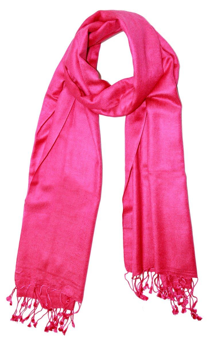 Cashmere & Silk Scarf, Fuchsia