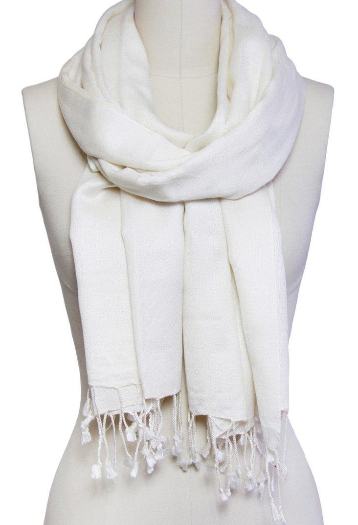 Cashmere/Silk Scarf, Ivory