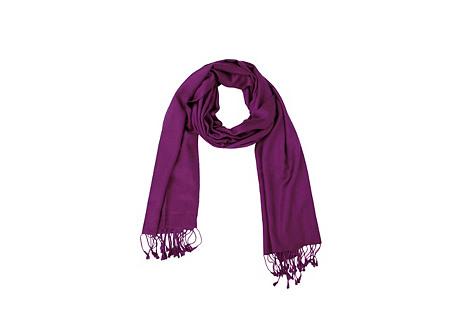 Cashmere/Silk Wrap Scarf, Magenta