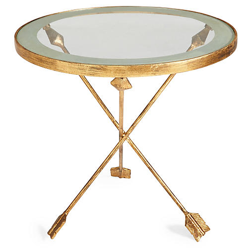 Anna Arrow Side Table, Gold