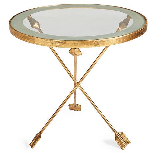 Anna Arrow Side Table, Gold