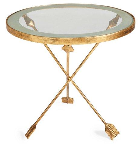 Anna Arrow Side Table Gold
