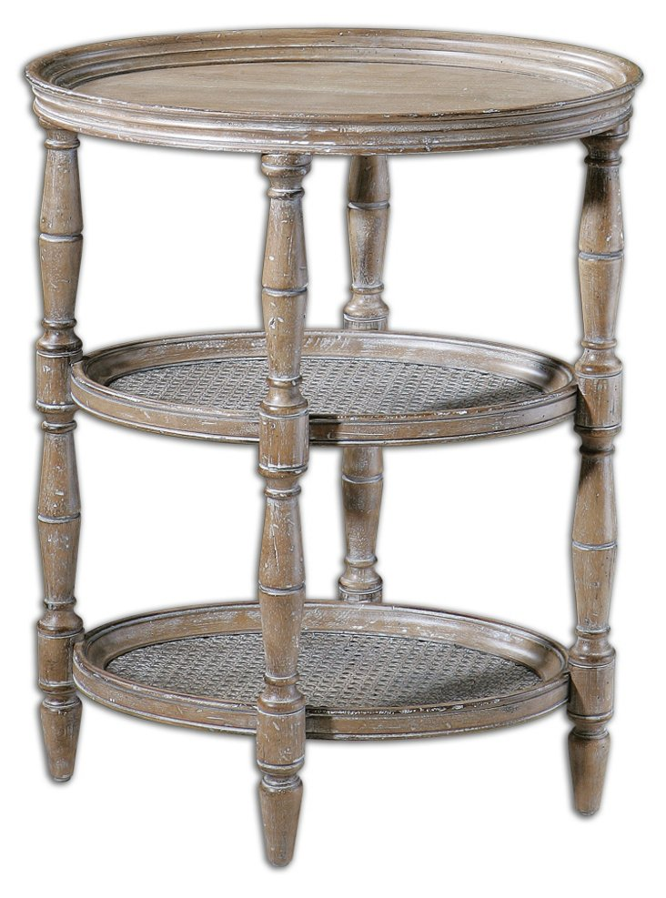 Tullulah 3-Tier Side Table, Natural