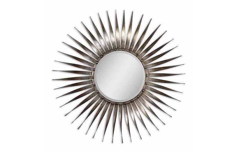 Soleil Wall Mirror, Silver