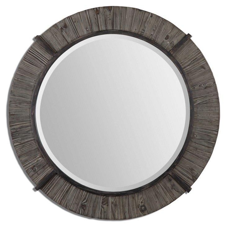 Rickford Wall Mirror, Rustic