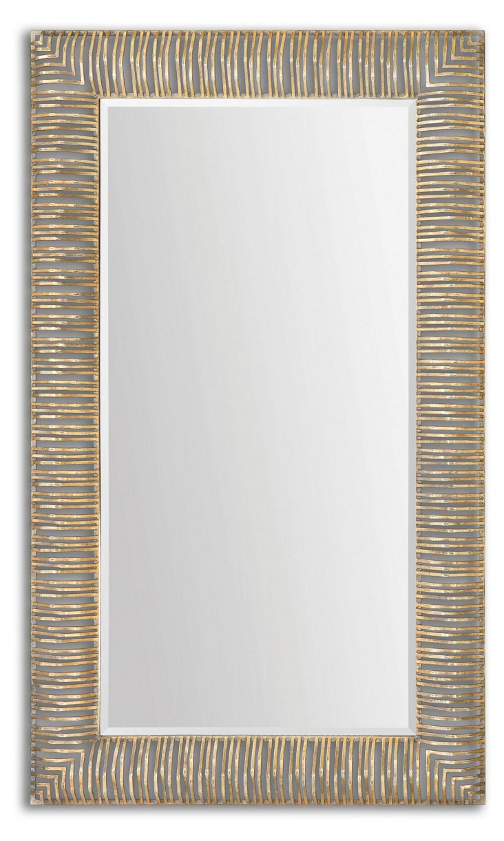 Vanderbilt Floor Mirror, Gold