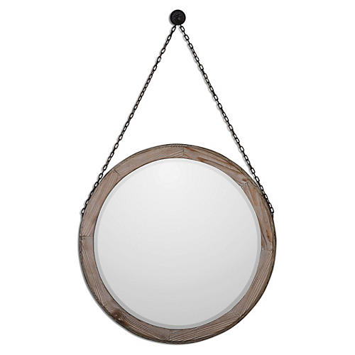 Logan Wall Mirror, Rustic Bronze