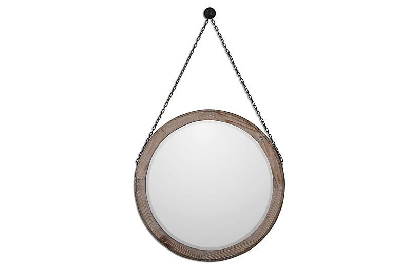 Logan Wall Mirror, Rustic Bronze