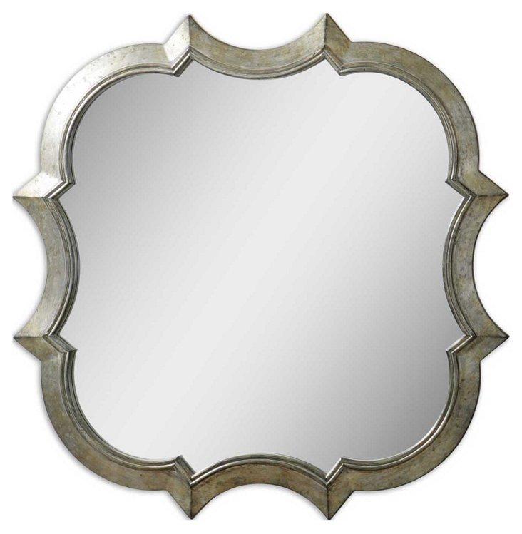 Franca Wall Mirror, Silver